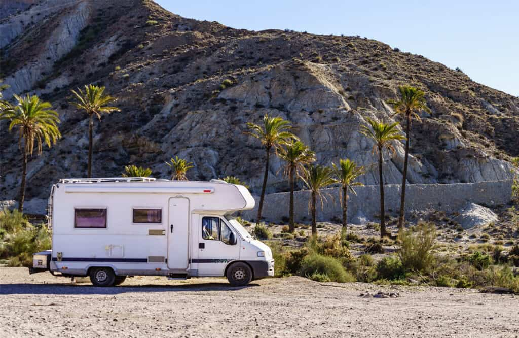 Motorhome touring in Spain in the Sierra Alhamilla mountains