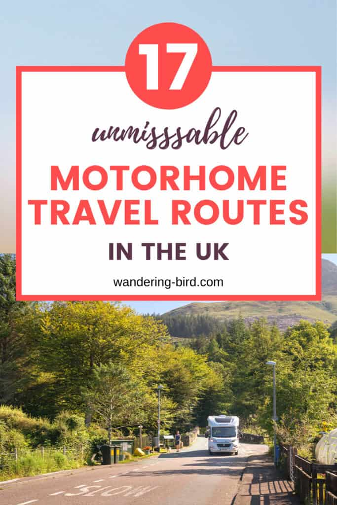 UK motorhome travel holiday routes