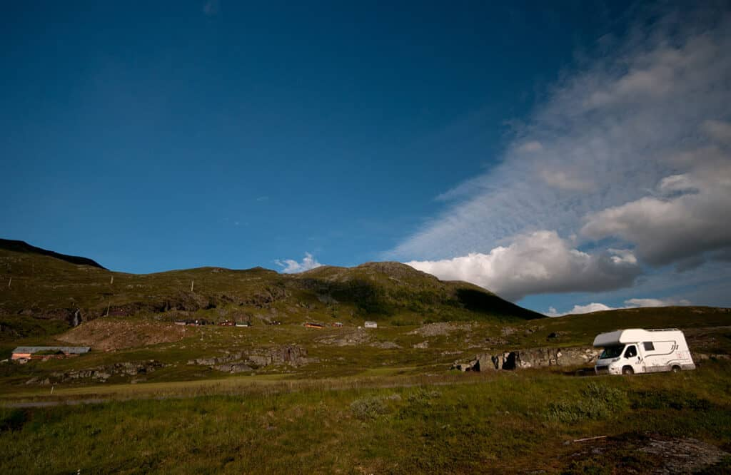 motorhome wild camping in Scotland