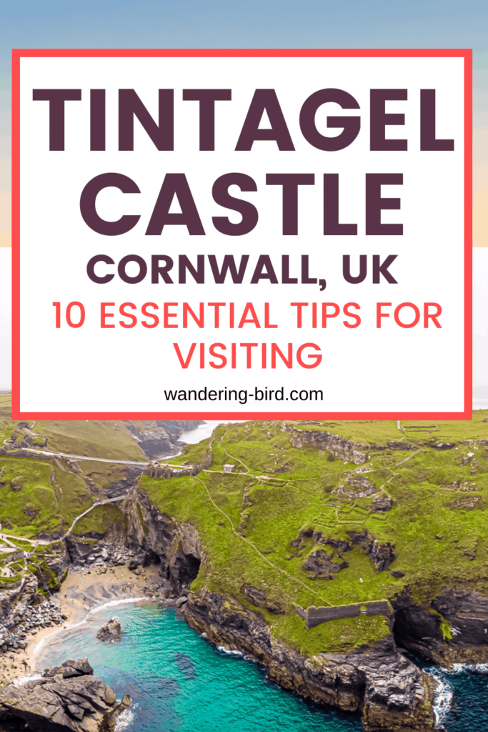 Tintagel Castle- one of the most famous castles in England. Here's how to plan your visit, when to go and what to bring! Also includes Merlin's Cave!! Castle in England | Places to visit in England | Places to visit in Cornwall UK | Things to do in Cornwall