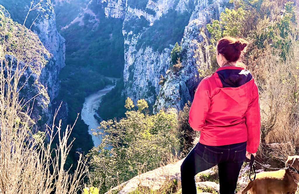 Gorges du Verdon Viewpoint and standing too close to the edge!