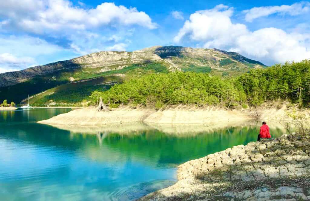 Gorges du Verdon camping and lake
