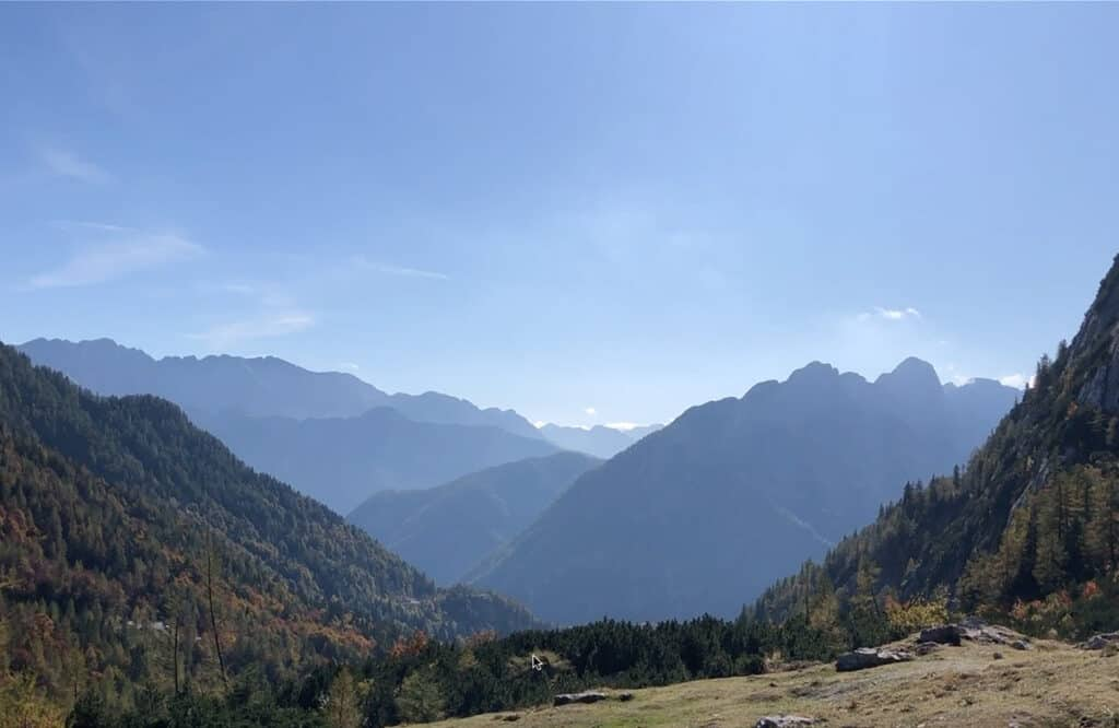 View at the top of the Vrsic Pass