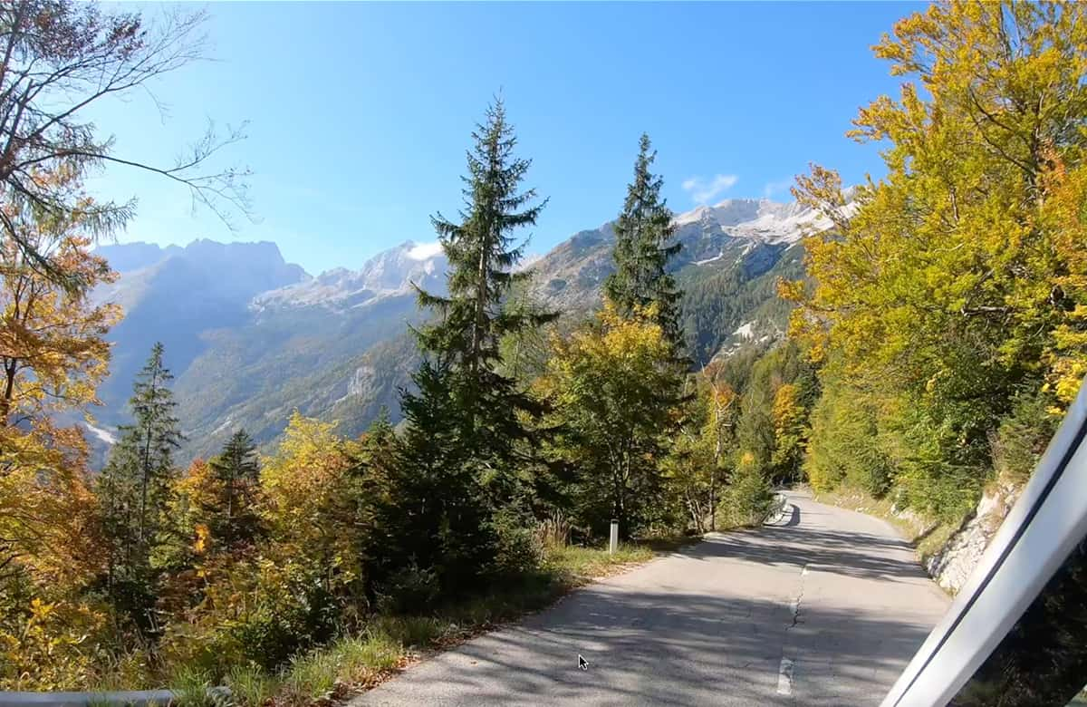 Driving the Vrsic Pass with a car or motorhome