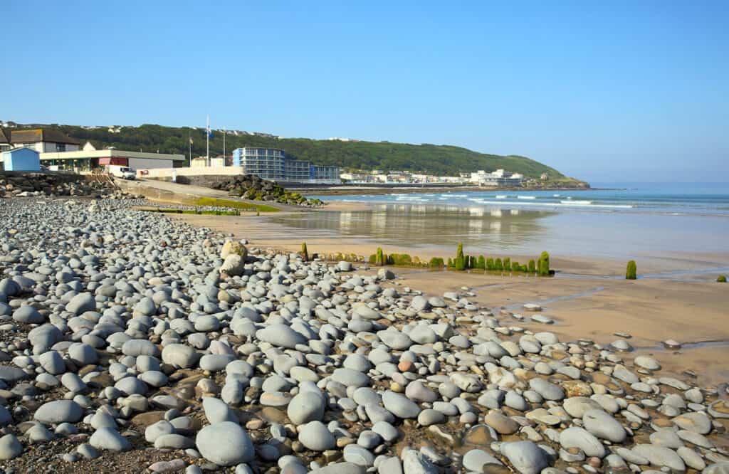 Westward Ho! beach in North Devon- Devon road trip itinerary idea