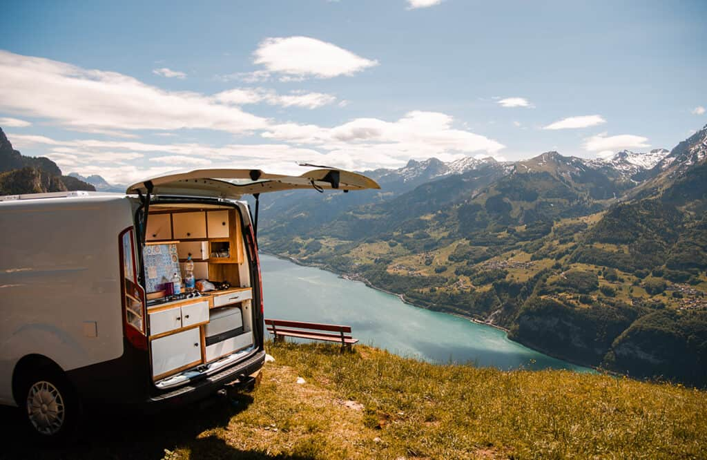 Campervan touring in Switzerland