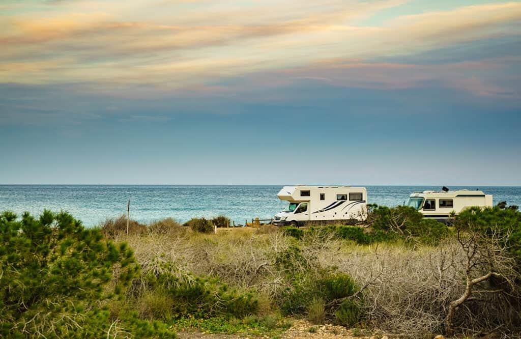 Motorhome camping in Portugal