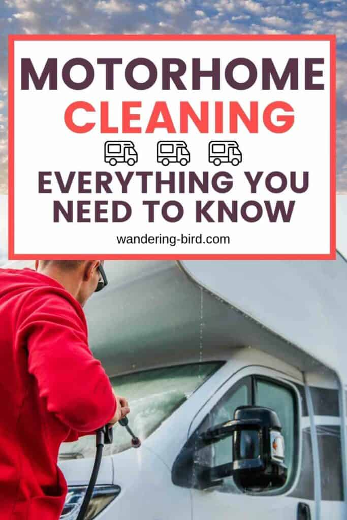 Wondering how to clean your motorhome or campervan and what the best motorhome cleaning products are to get the motorhome to shine again? Even worse- how do you clean your motorhome roof!?! Here's everything you need to know.