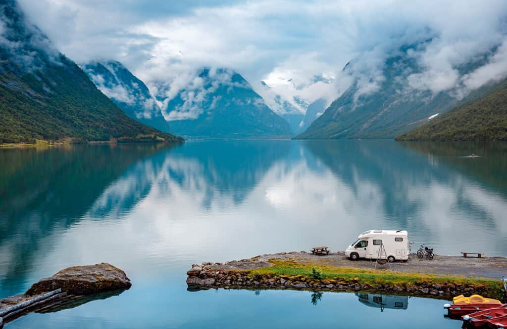 motorhome touring and travel in Norway- complete guide to motorhome and campervan travel in Norway