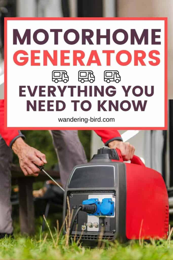 Motorhome Generators- complete guide. Everything you need to know about choosing and using a generator in a motorhome, campervan, caravan or for camping. How to choose the best portable generator, how to maintain it and what size is best for you.