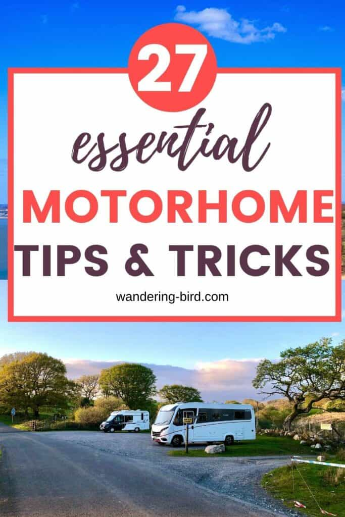New to motorhomes? Need newbie advice? Here are 27 best motorhome tips for beginners, plus some motorhome tips and tricks for everyone!