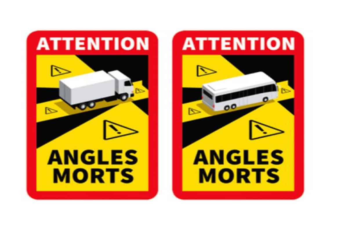 France law blind spot warning stickers- do motorhomes and campers need them?