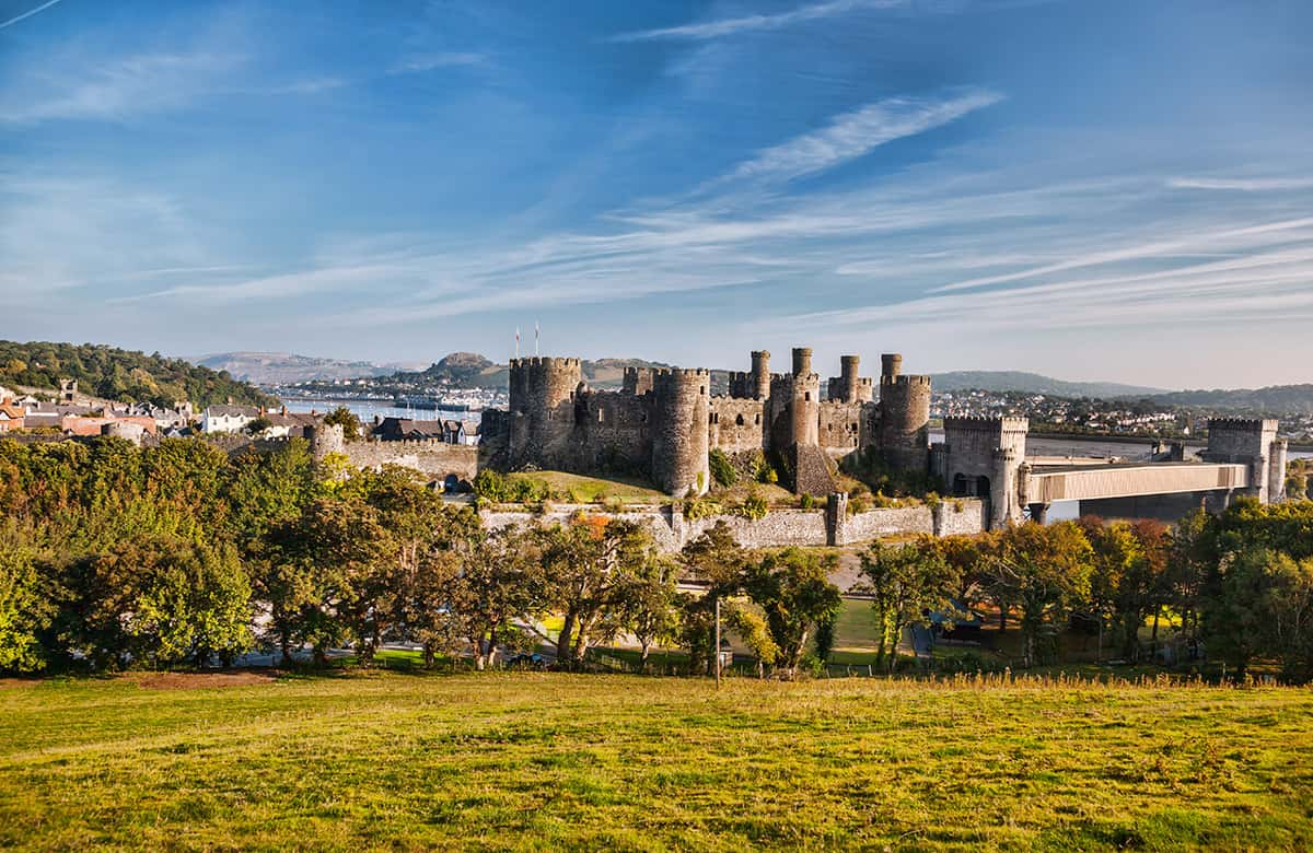 Conwy Castle- one of the highlights of the North Wales Way driving route