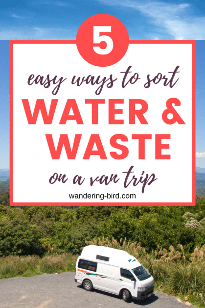 5 easy ways to deal with water and waste disposal while campervanning