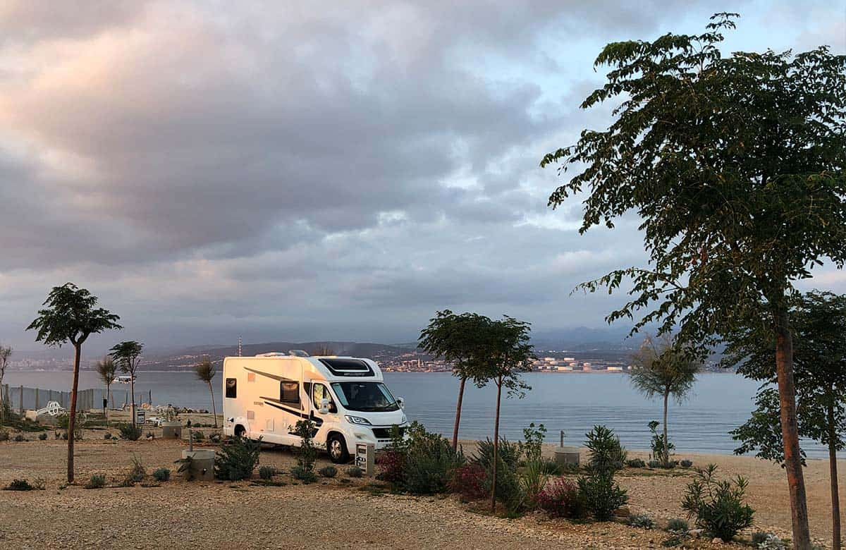 croatia campsite by the beach
