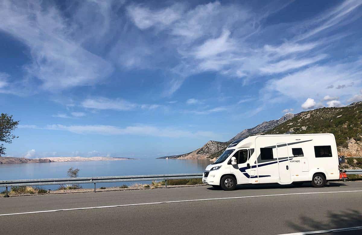 Croatia motorhome tour- coastal road route