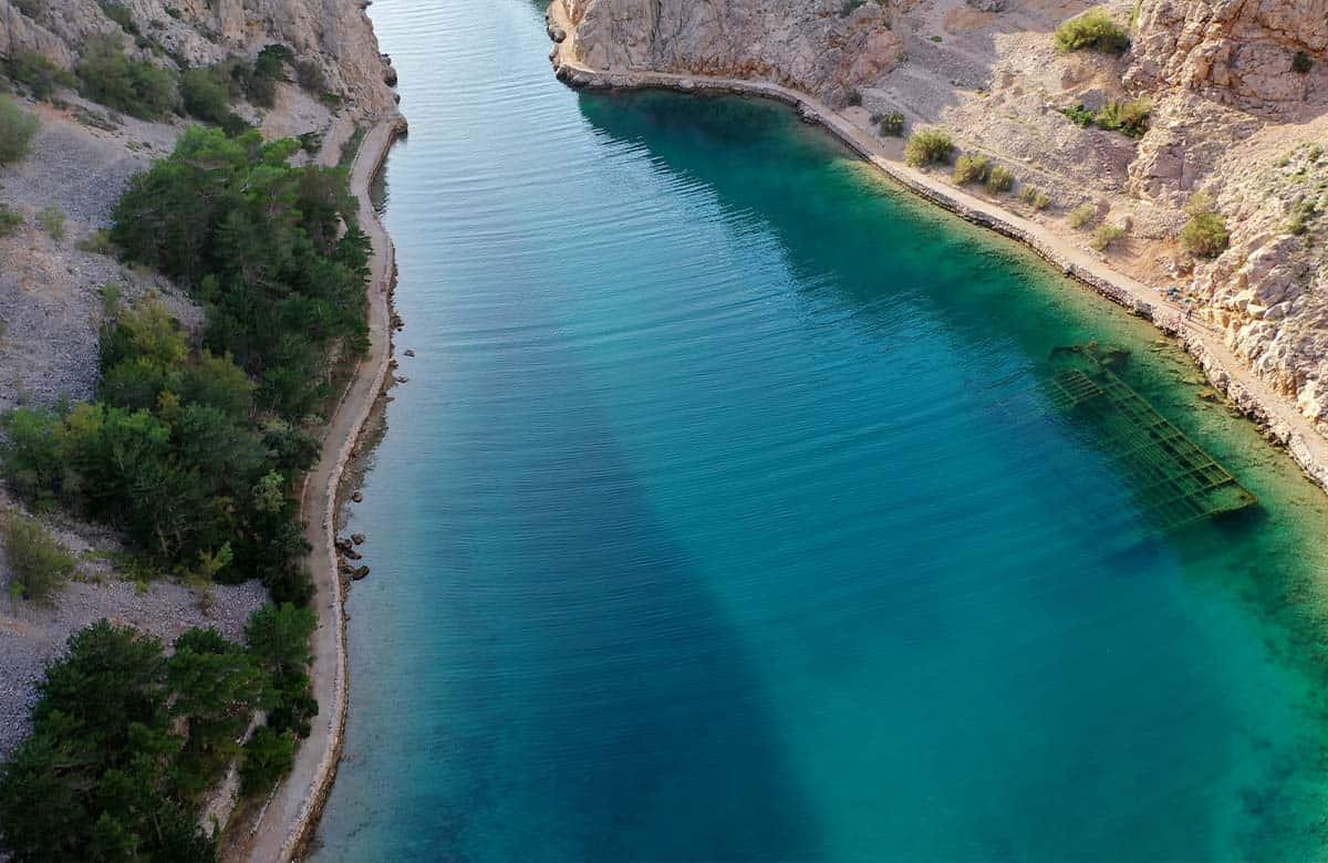 Croatia hidden shipwreck lagoon