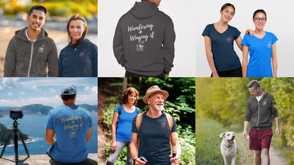 Wandering & Winging It T-shirts and Hoodies